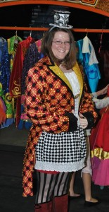 K in Vintage Ringmaster Coat from Wardrobe Archive