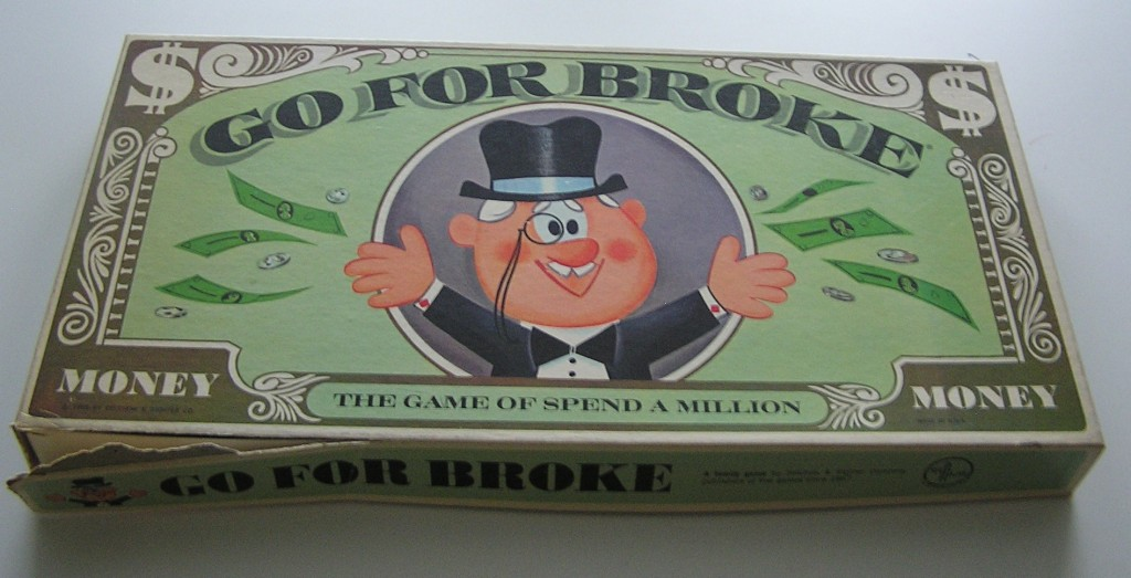 Go For Broke 1965 Board Game Box