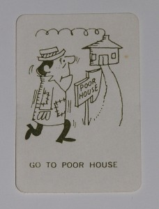 "Go For Broke game card ""Go to Poor House"""