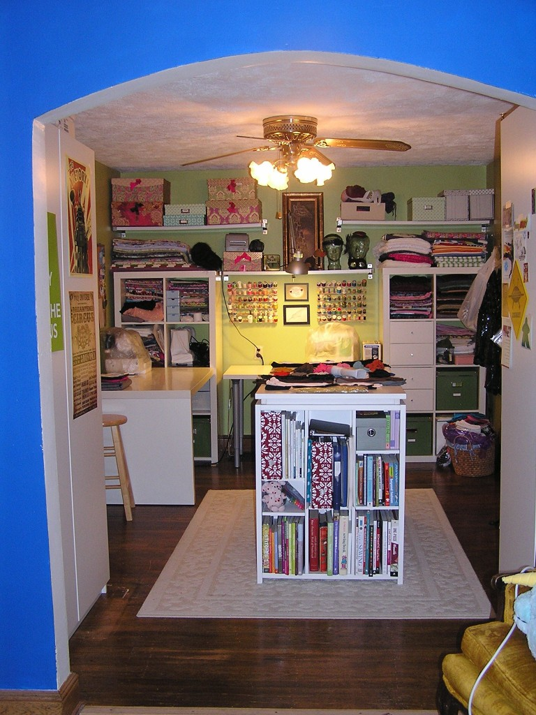 organized craft room sewing room