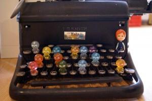 Old antique vintage typewriter