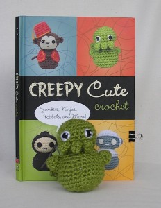 Creepy Cute Crochet Book Cover and Crocheted Cthulhu