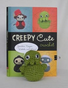Creepy Cute Crochet Book Cover and Crocheted Cthulhu