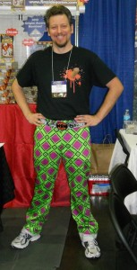 Justin of Fireside Games had to wear Crazypants