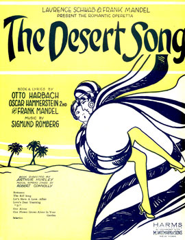 The Desert Song playbill
