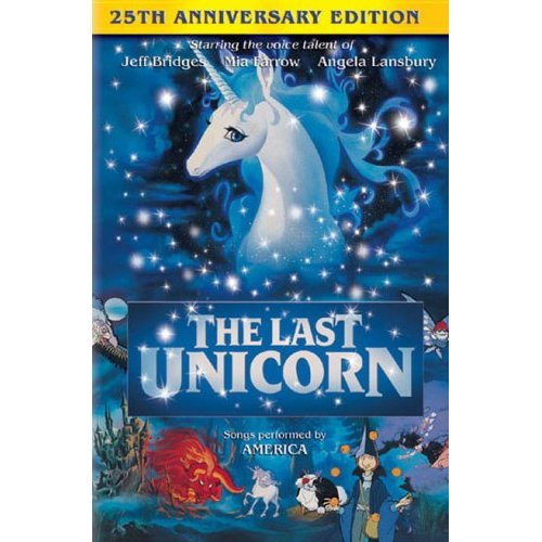 The Last Unicorn anniversary edition DVD cover