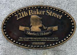 221b Baker Street Sign Sherlock Holmes