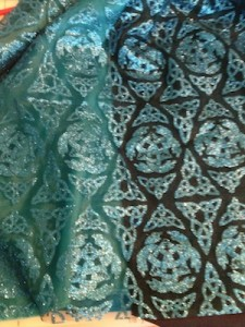 Detail of the fabric from the merida costume